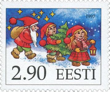 エストニア クリスマス切手