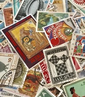 多くの切手